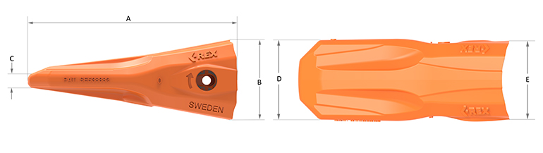 C-REX Excavator tooth AE Duo View_72